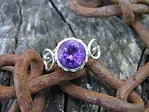 Prstene - Strieborny prsteň Ag925 Ametyst - 10880427_