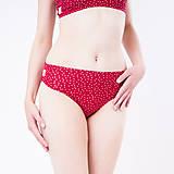 Bielizeň/Plavky - Nohavičky klasik z bio bavlny GOTS - červená bodka - 10881136_