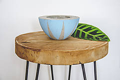 Nádoby - Maľovaný kvetináč okrúhly - 10879075_