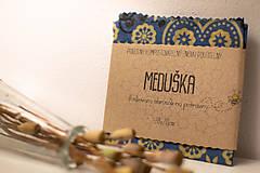 Pomôcky - mini Meduška 20x20cm (červený folk) - 10878695_