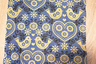 Pomôcky - mini Meduška 20x20cm (Modrý folk) - 10878733_
