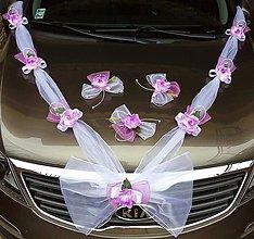 Dekorácie - Svadobná výzdoba na auto-cyklámenová - 10879175_