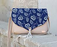Kabelky - modrotlačová kabelka Petra béžová 2 - 10878703_