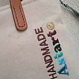 Veľké tašky - Ľanová taška na veľ. A4 / folk 2 (hnedotyrkysová) - 10879304_