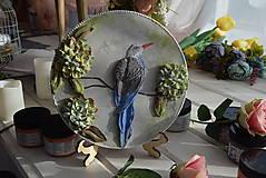 Obrazy - vtáčik - sculpture painting - 10878539_