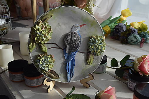 vtáčik - sculpture painting