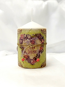 Svietidlá a sviečky - levanduľová sviečka - 10881470_