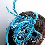 Ozdoby do vlasov - Fascinátor z peria a korálok - 10879565_