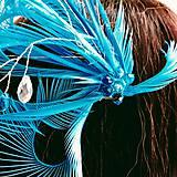 Ozdoby do vlasov - Fascinátor z peria a korálok - 10879569_