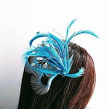 Ozdoby do vlasov - Fascinátor z peria a korálok - 10879554_