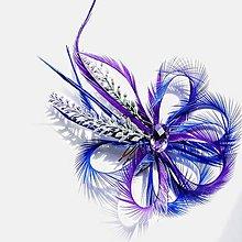 Ozdoby do vlasov - Fascinátor z peria - 10879585_
