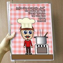 Papiernictvo - Vtipný receptár s vlastnou karikatúrou - 10878524_