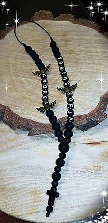 Iné šperky - Prívesok alebo amulet do auta  na želanie s textom menom alebo dátumom aj farebne podla vašeho priania - 10883411_
