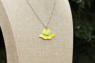 Náhrdelníky - Žltý klobúčik - 10883561_
