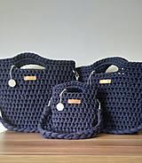 Kabelky - sivá kráska (Modrá bobbiny) - 10884283_