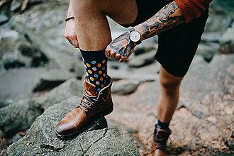Oblečenie - Pánske ponožky Circles Socks - 10882745_