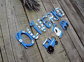 Detské doplnky - drevené písmenká - 10882590_