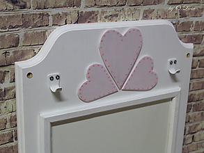 Tabuľky - Magnetická tabuľa - Srdiečka  (Ružové) - 10882614_