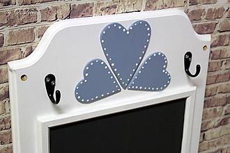 Tabuľky - Magnetická tabuľa - Srdiečka  (Modré) - 10882627_