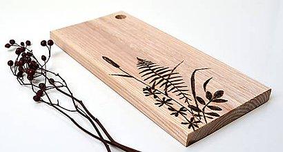 Pomôcky - Drevený lopárik s rastlinkami - 10883404_