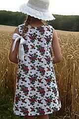 Detské oblečenie - Šatočky Babičkovské kvietky - 10881839_