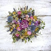 Dekorácie - Pestrá kytica sušených kvetov - 10884174_