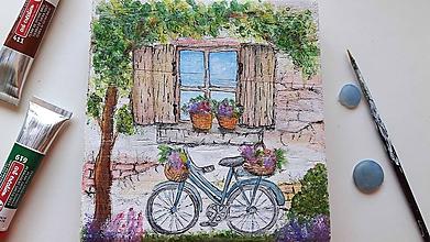 Obrázky - Obrázok Idylka s bicyklom - 10882857_
