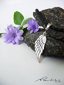 """Náhrdelníky - Strieborný šperk Ag925 """"Krídlo ANJELA"""" - 10882196_"""