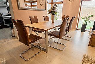 Nábytok - Dubový jedálenský stôl - 10881975_