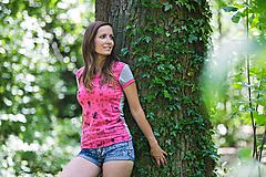 Tričká - Dámské 100% MERINO tričko - 10882318_