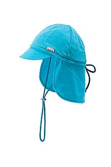 Detské čiapky - 100% merino ROSTOUCÍ KŠILTOVKA tyrkysová - 10881724_
