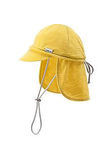 Detské čiapky - 100% merino ROSTOUCÍ KŠILTOVKA žlutá - 10881731_