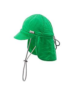 Detské čiapky - 100% merino ROSTOUCÍ KŠILTOVKA zelená - 10882119_