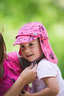 Detské čiapky - 100% merino ROSTOUCÍ KŠILTOVKA kočičky - 10882153_