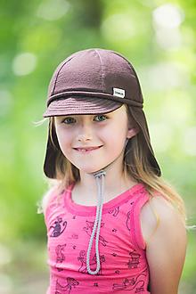 Detské čiapky - 100% merino ROSTOUCÍ KŠILTOVKA hnědá - 10882157_