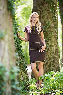 Šaty - Merino šaty s kapucou a kapsou - 10882279_