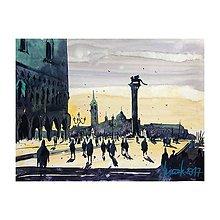 Obrazy - Západ slnka v Benátkach - 10882907_