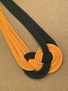 Náhrdelníky - Žltozelený  (uzlový náhrdelník) - 10881730_