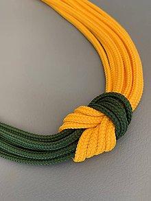 Náhrdelníky - Žltozelený  (obojkový náhrdelník) - 10881749_