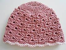 Čiapky - Háčkované čiapočky v ružových tónoch - 10884144_