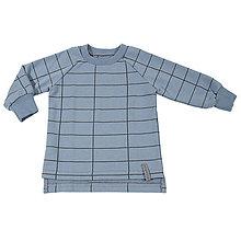 Detské oblečenie - Detská mikina - grid blue - 10882913_