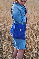 Kabelky - Kabelka modrá kráľovská - 10882943_