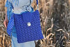 Kabelky - Kabelka modrá kráľovská - 10882944_