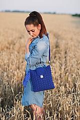 Kabelky - Kabelka modrá kráľovská - 10882945_