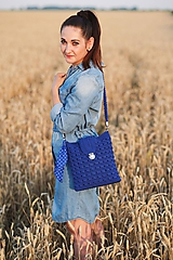 Kabelky - Kabelka modrá kráľovská - 10882976_