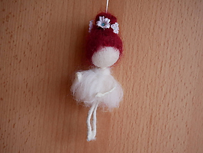 Dekorácie - plstené baletky - 10883910_