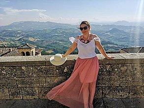 """Náhrdelníky - Kvetinový náhrdelník """"San Marino"""" - 10884038_"""