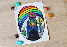 Kresby - Kráľovná dúhy - originál - 10882547_