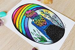 Kresby - Kráľovná dúhy - originál - 10882548_