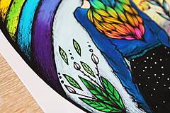 Kresby - Kráľovná dúhy - originál - 10882549_